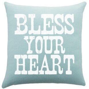 Bless Your Heart Pillow Wayfair