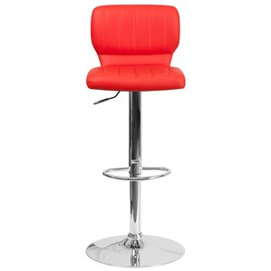 Aristocles Adjustable Height Swivel Bar Stool  sc 1 st  AllModern : red bar stool chairs - islam-shia.org