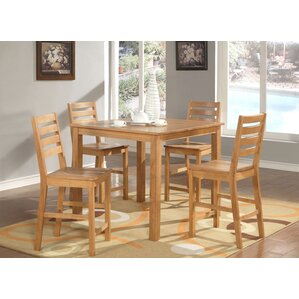 Caf? 5 Piece Counter Height Dining Set by Wooden Importers
