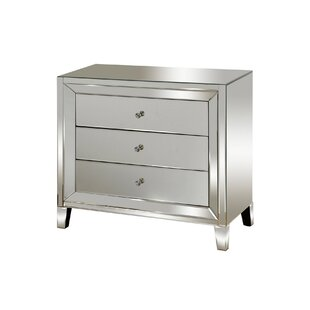 Montalvo Mirrored 3 Drawer Accent Chest