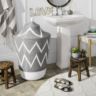 Union Rustic Rattan Laundry Hamper