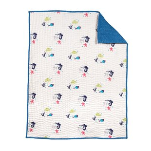 Compare prices Oceanography Cotton Hand-Quilted Blanket ByNursery works
