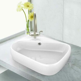 Comparison Ceramic Specialty Bathroom Sink with Faucet and Overflow By American Imaginations
