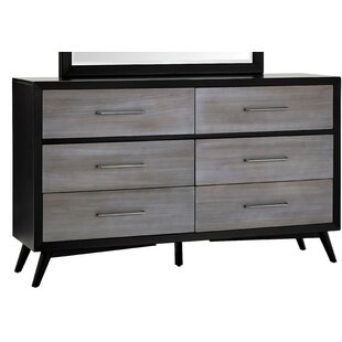 Bork 6 Drawers Standard Dresser by Union Rustic