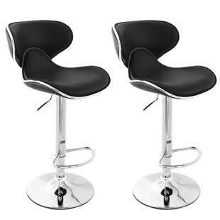 Colchester Adjustable Height Swivel Bar Stool (Set of 2)