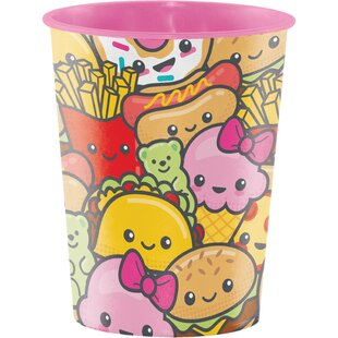 Food Love Plastic Disposable Cup (Set of 8)