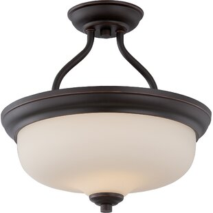 Craine 2-Light Semi Flush Mount by Winston Porter