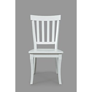Alder Solid Wood Dining Chair (Set of 2) August Grove