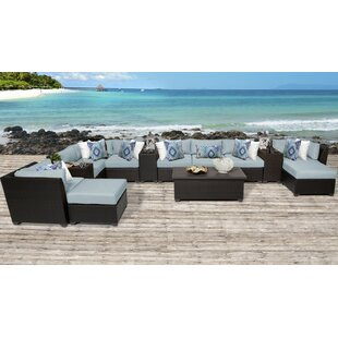 Medley 14 Piece Sectional Seating Group with Cushions by Rosecliff Heights