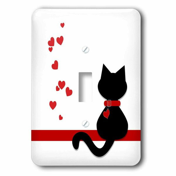 3drose Lovers Hearts Kitty Cat 1 Gang Toggle Light Switch Wall Plate Wayfair