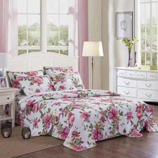 Mozingo Roses Lovely Valentine Floral/Flower Cotton Flat Sheet