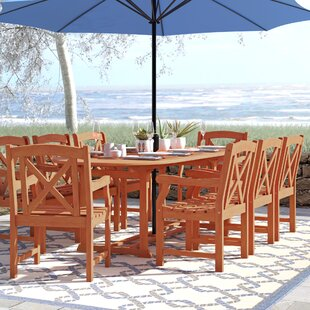 Beachcrest Home Monterry Extendable 9 Piece Dining Set