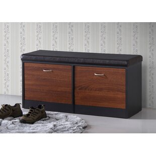 Ebern Designs Spicer Wood Storage Bench