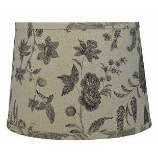 French 16 Linen Drum Lamp Shade