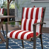 Indoor/Outdoor Dining Chair Cushion byBreakwater Bay
