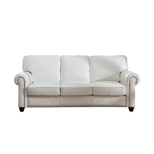 Darby Home Co Kiaan Craft Leather Sofa