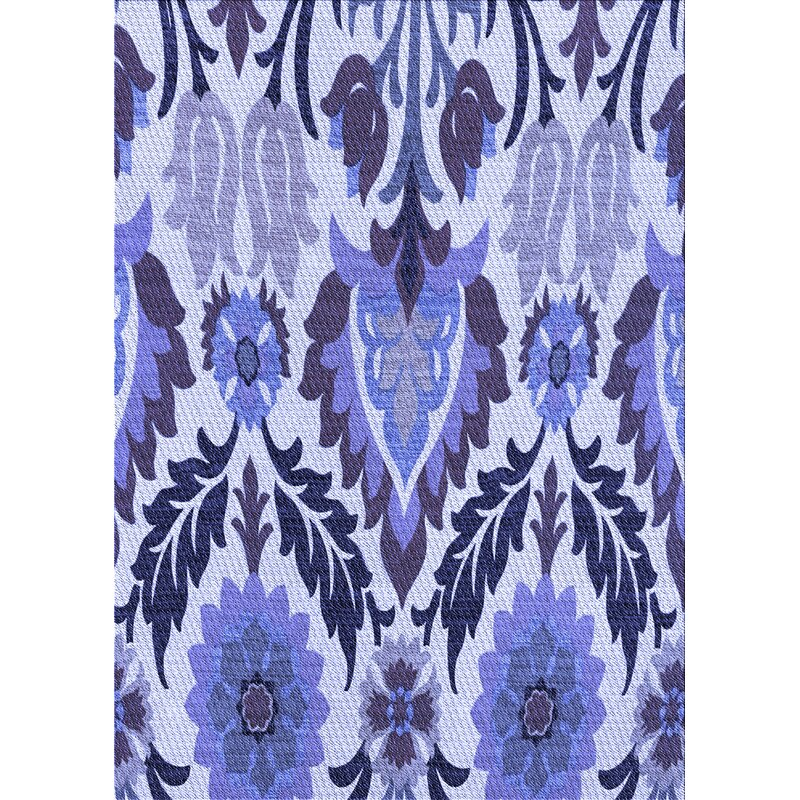 East Urban Home Patton Floral Wool Blue Area Rug Wayfair