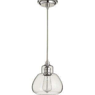 Gracie Oaks Atalya 1-Light Globe Pendant