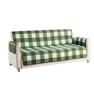 Checkerboard Reversible Waterproof Microfiber T-cushion Armchair Slipcover by Red Barrel Studio
