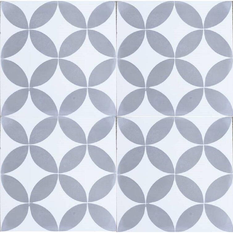 "MeaLu 8"" x 8"" Cement Patterned Floor Use Tile"