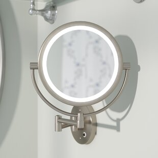 Three Posts Hackler Glam LED Makeup Wall Mirror