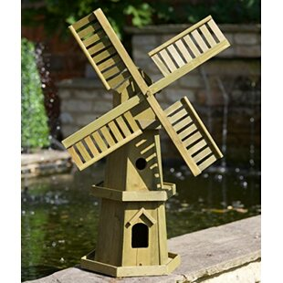 Haga Large Freestanding Wooden Garden Windmill By Sol 72 Outdoor