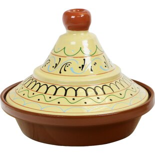 Eurita 2 Qt. Seville Hand Painted Terracotta Round Tagine