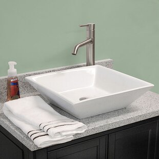 Affordable Ceramic Square Vessel Bathroom Sink By American Imaginations