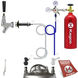 Standard Homebrew Kegerator Conversion Kit with 5 lb. CO2 Tank