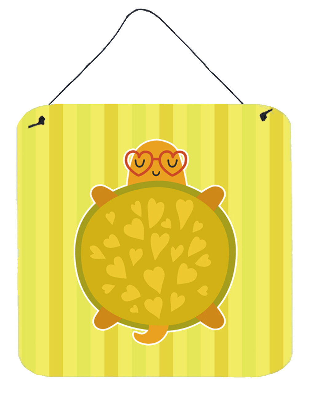 Zoomie Kids Turtle with Glasses Square Wall Décor | Wayfair