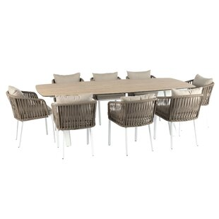 Julii 8 Seater Dining Set With Cushions By Sol 72 Outdoor