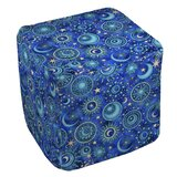 Celestial Medallions Pouf Ottoman by Manual Woodworkers & Weavers