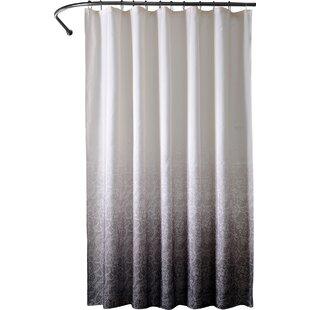 Black shower curtains Design Quickview Black Allmodern Modern Black Shower Curtains Allmodern