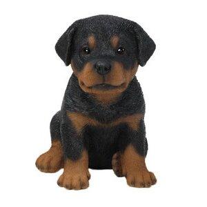 Sitting Rottweiler Puppy Statue