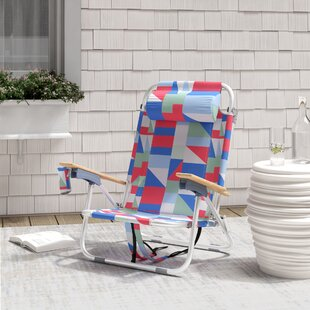 Regalado Reclining Beach Chair with Cushion