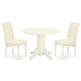 Ludewig 3 Piece Solid Wood Dining Set by Winston Porter