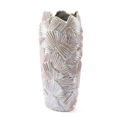 Bay Isle Home Fryeburg Palm Pearl 2 Floor Vase