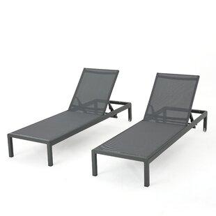 Royalston Aluminum Mesh Chaise Lounge (Set of 2) by Brayden Studio