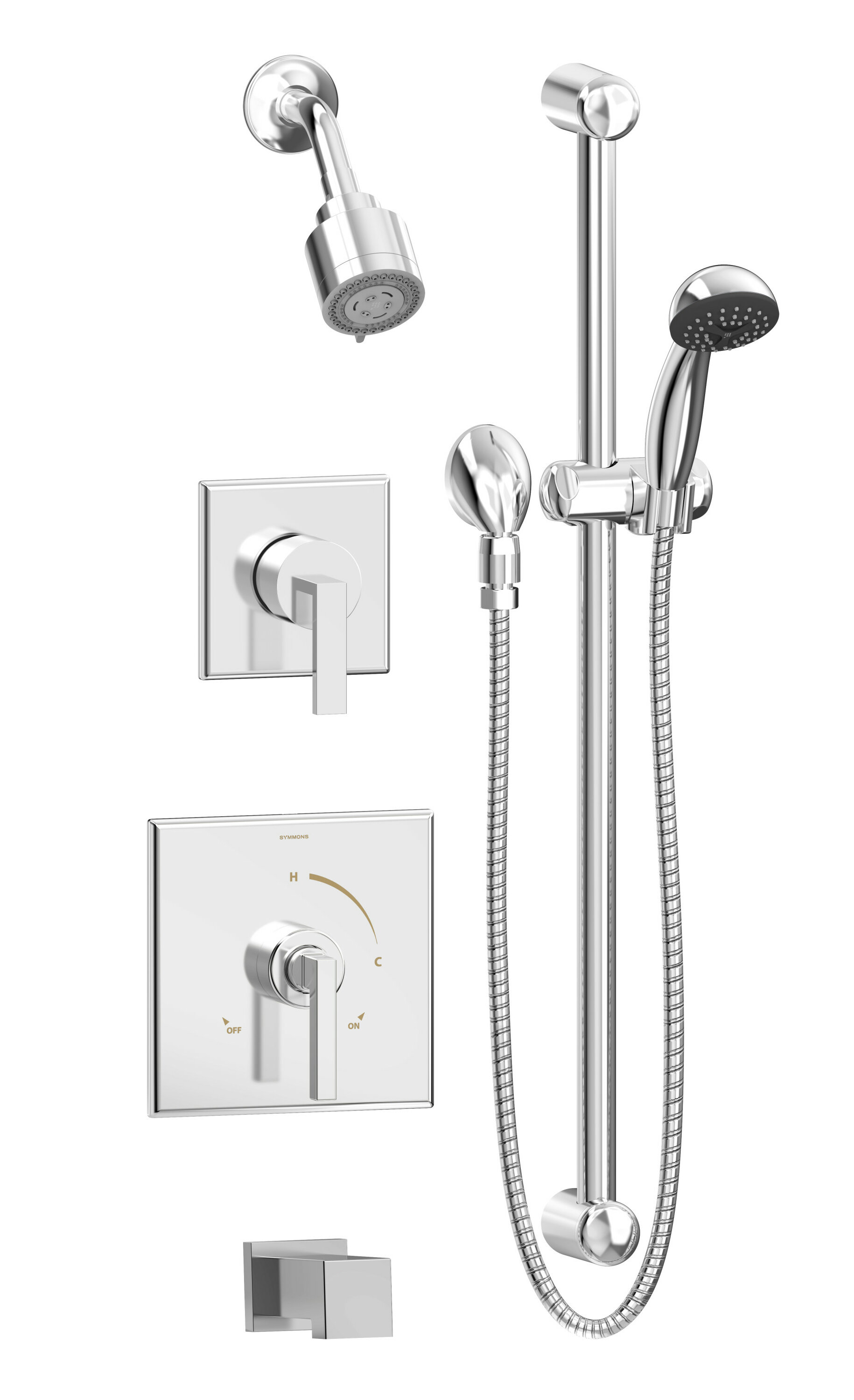 Symmons Duro 2 Handle And 3 Spray Pressure Balanced Tub And Shower Faucet Wayfair