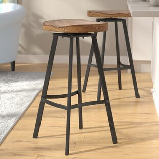 Mercury Row Lindquist 31.5 Swivel Bar Stool (Set of 2)