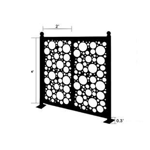 Interesting Price 4 2 Ft H X 4 5 Ft W Freestanding Modular Metal Fence Panel By E Joy Popular Sellers