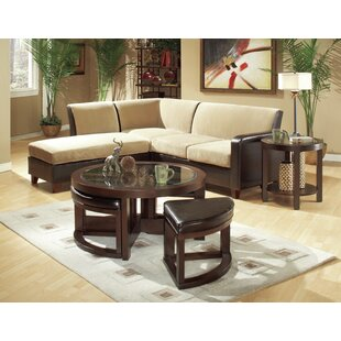 3219 Series Coffee Table with 4 Ottomans Woodhaven Hill