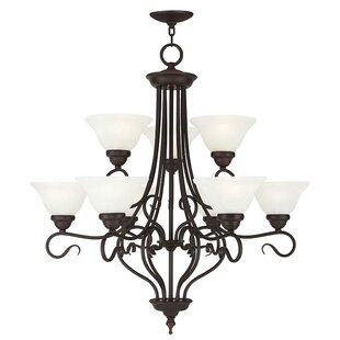 Darby Home Co Lewisboro 9-Light Shaded Chandelier
