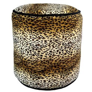 Cheetah Soft Pouf Ottoman by R&MIndustries