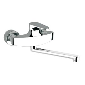 Remer by Nameek's Single Handle Wall Mounted Kitchen Sink Faucet