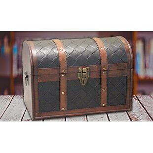 Darby Home Co Monserrat Round Top Treasure Trunk