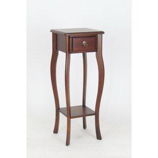 Comparison Brunson Pedestal End Table by Alcott Hill