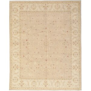 Gaelle Hand-Knotted Wool Cream Area Rug