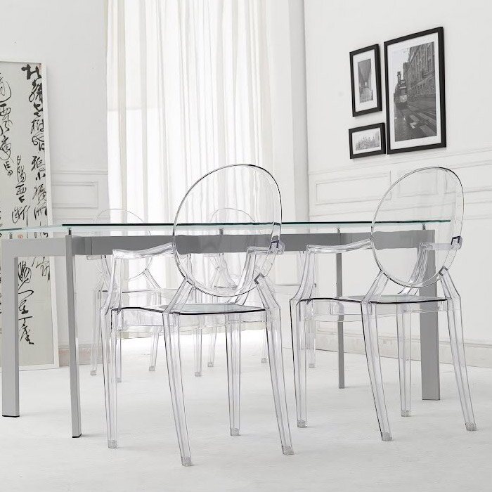 dining modern ebay louis armchair reproduction ghost chair bhp