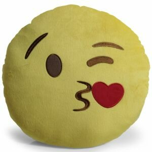 Emoji Kissing Heart Pillow Throw Pillow